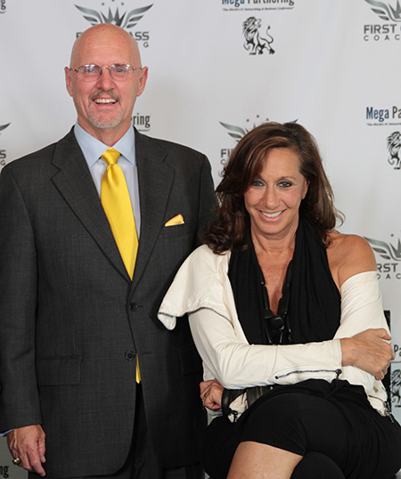 Michael Baum with Designer Donna Karan